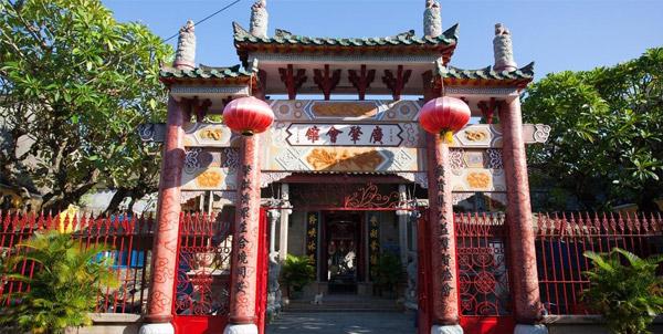 Hội quán Quảng Đông do người Hoa Kiều xây dựng
